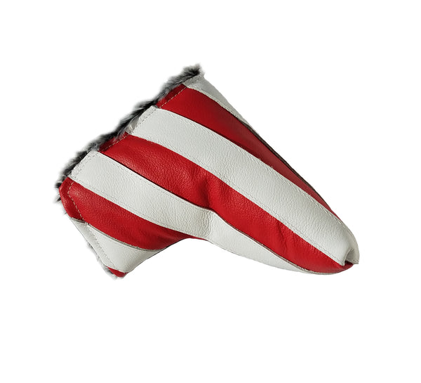 NEW! Stars & Stripes USA Flag Putter Cover - Robert Mark Golf, Putter Cover - Custom leather headcovers, unique golf headcovers, the best leather headcovers, golf headcovers, putter covers, custom golf putter covers