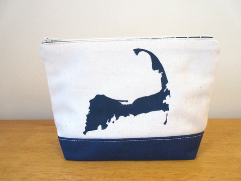 Clutch Purse with Cape Cod Silhouette 9x6