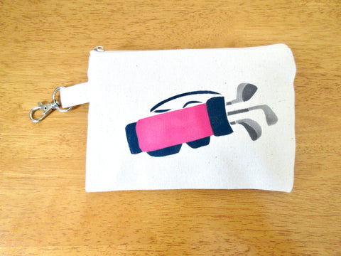Ladies Lined 5x7 Clip On Golf Bag - Golf bag, Magenta & Navy