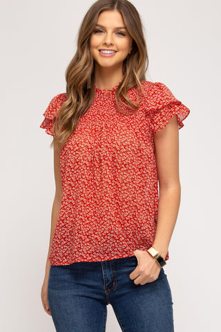 Robyn Red Blouse