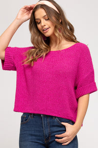 Spring Sweater - Fuchsia