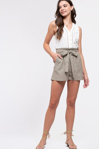 Dusty Olive Romper