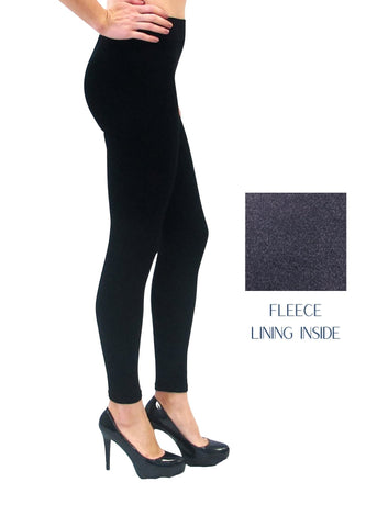 HR Leggings - Fleece Lined - Black