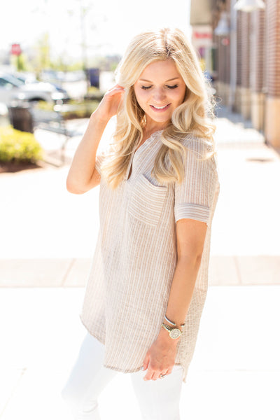 Head to Taupe Tunic