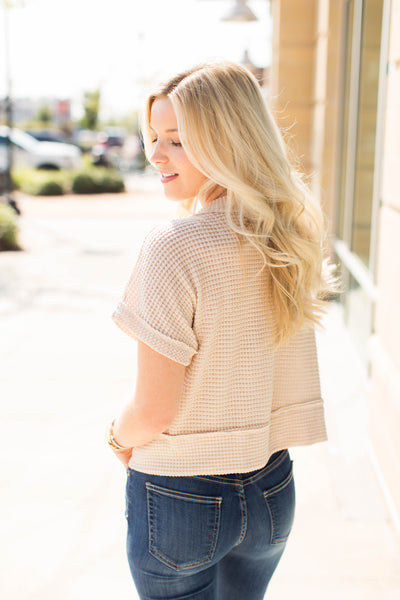 Waffle Knit Crop Top