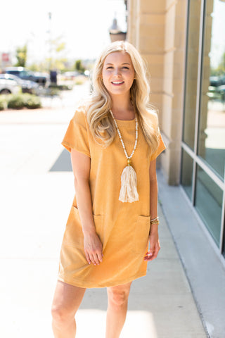 Golden Cords Dress