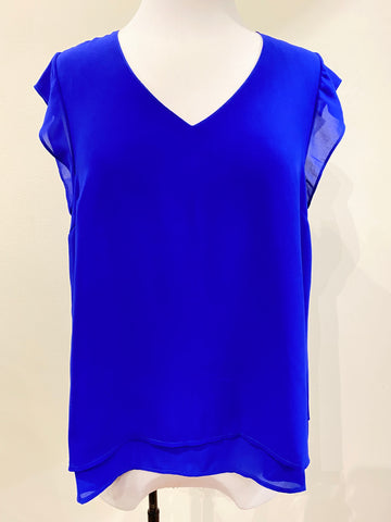Layer Cap Sleeve Top- Royal