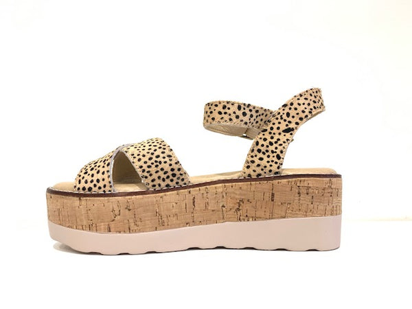 Fluffie Sandal- Brown Speckled