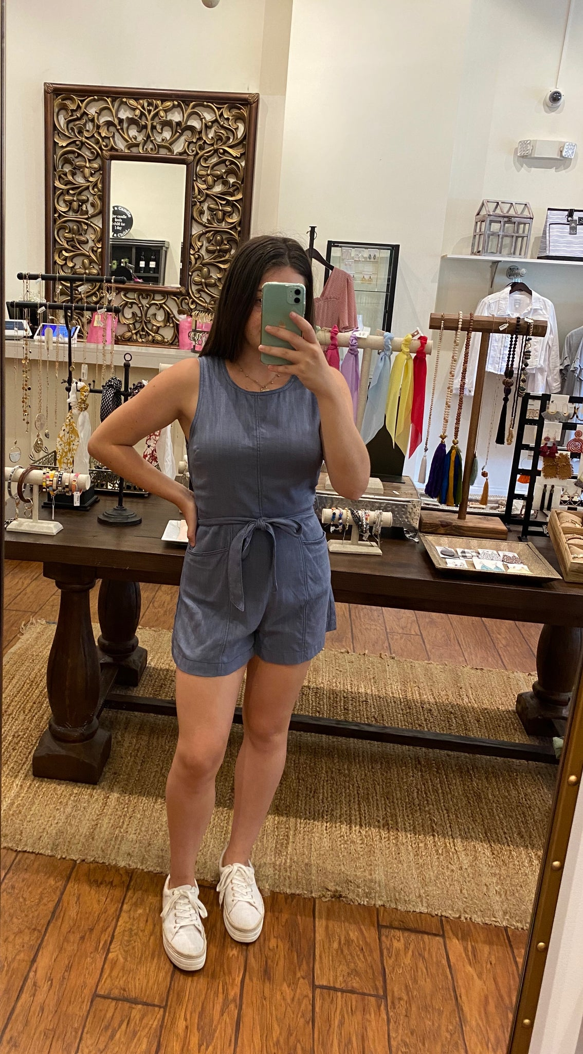 Blue Pocket Romper