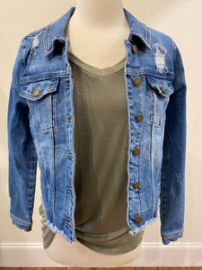Classic Destroyed Denim Jacket