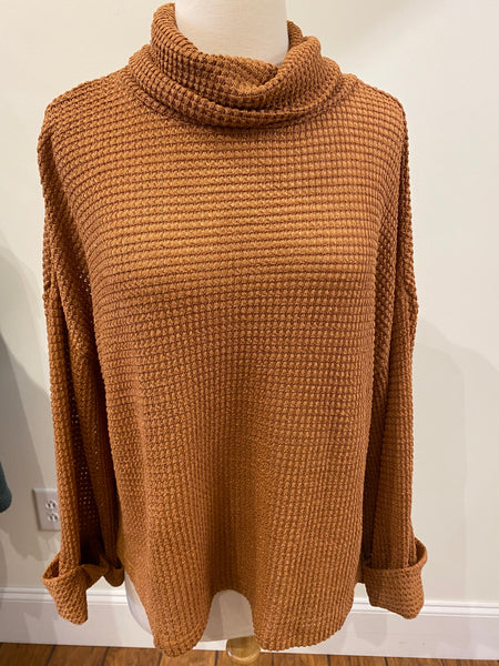 Cozy Caramel Knit Top