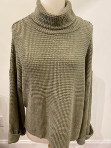 Cozy Knit Top - Olive