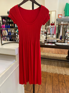 Elietian Knee Length Dress - Red