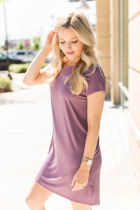 T-Shirt Dress - Mauve