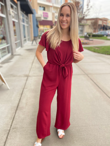 Red Velvet Jumpsuit