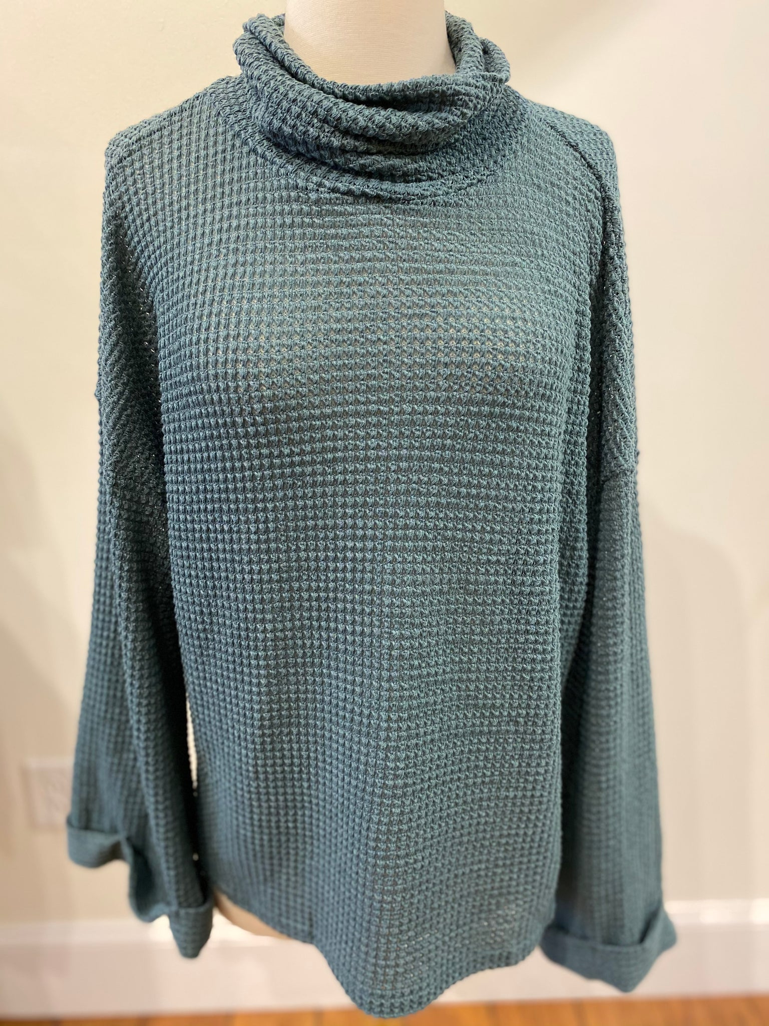 Cozy Slate Knit Top
