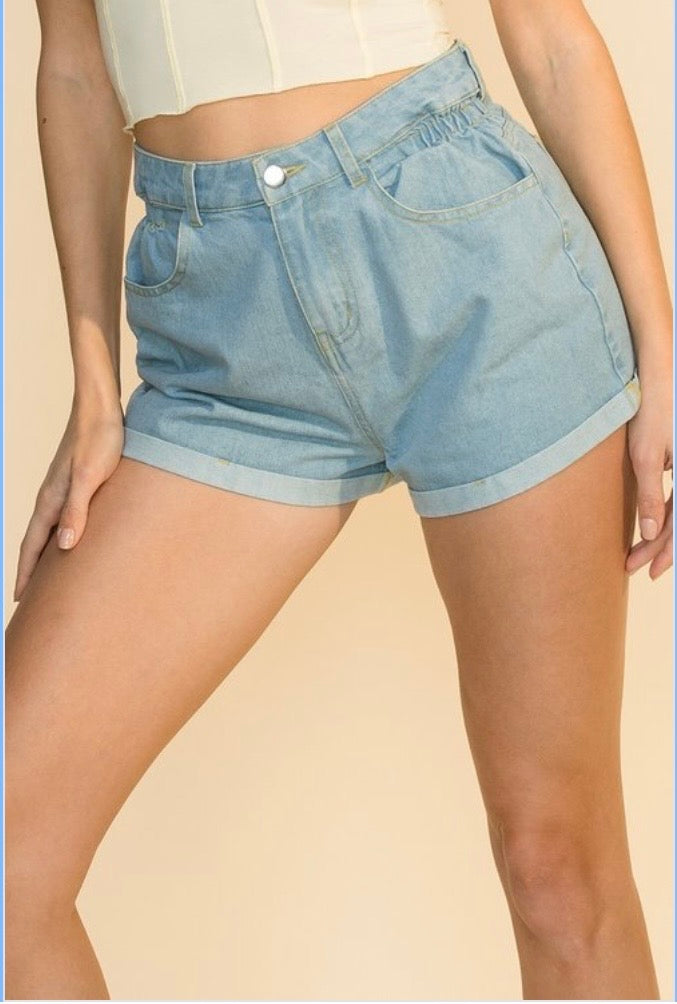 Blake Denim Shorts - Denim