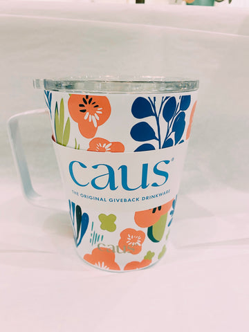 CAUS Coffee Tumbler with Handle - Hope In Bloom