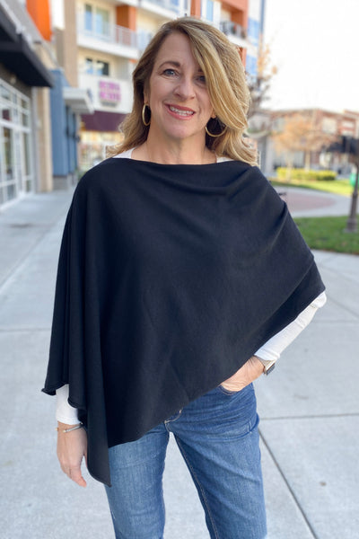 8 Way Poncho - Black