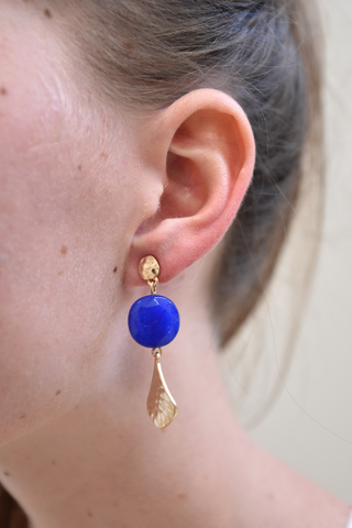 Ann Paige Mattie Earrings - Blue