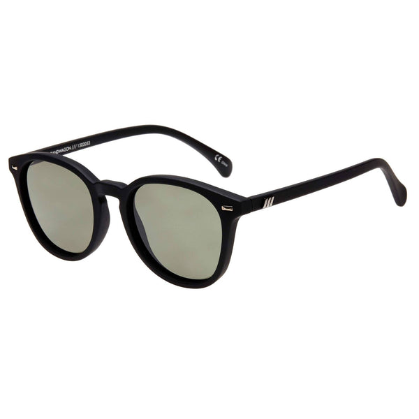 Le Spec - Bandwagon Sunglasses - Black Rubber