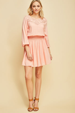 Beautiful Soul Dress - Peach