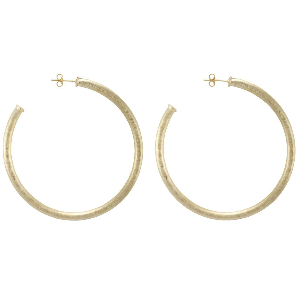 Sheila Fajl - Hammered Everybody's Favorite Hoops - 18K Gold Plated