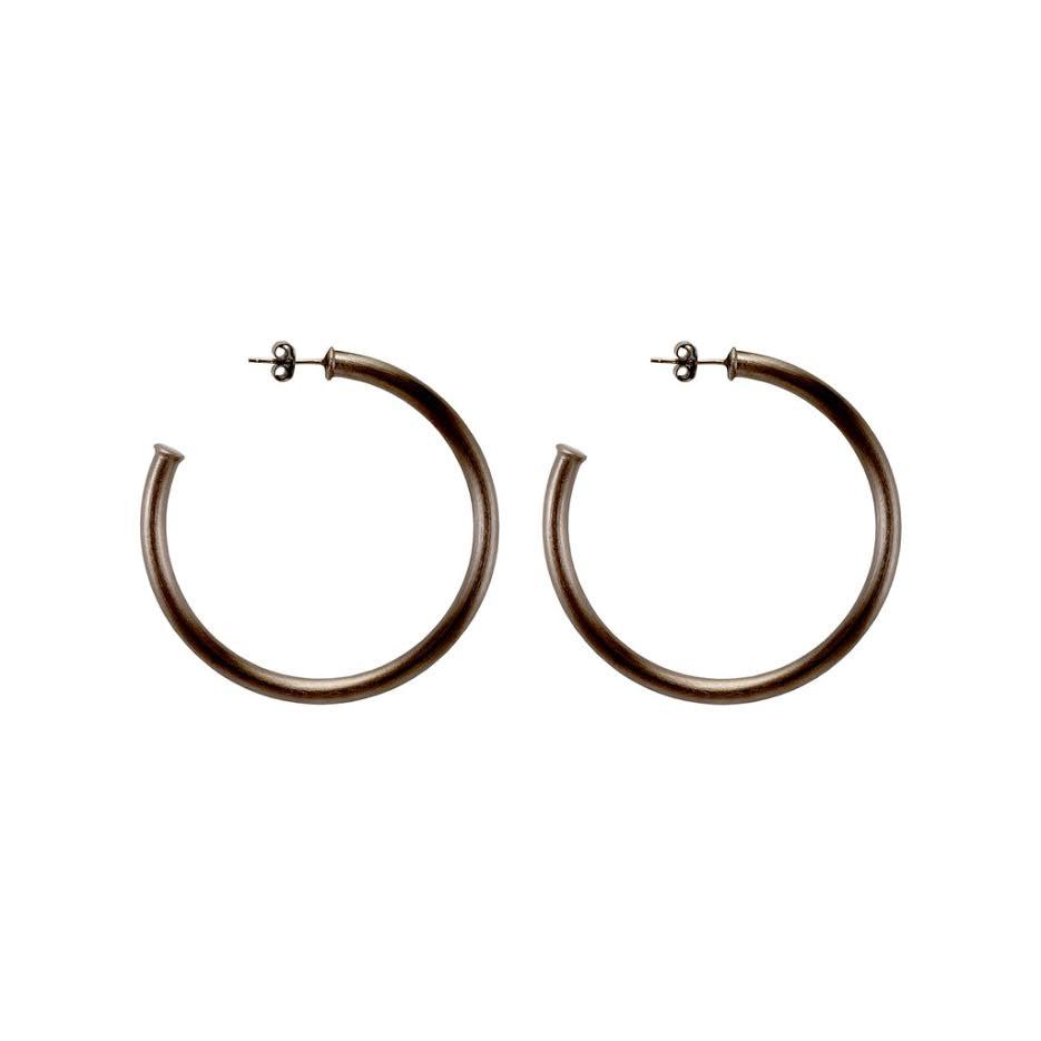 Sheila Fajl - Petite Everybody's Favorite Hoops - Gun Metal