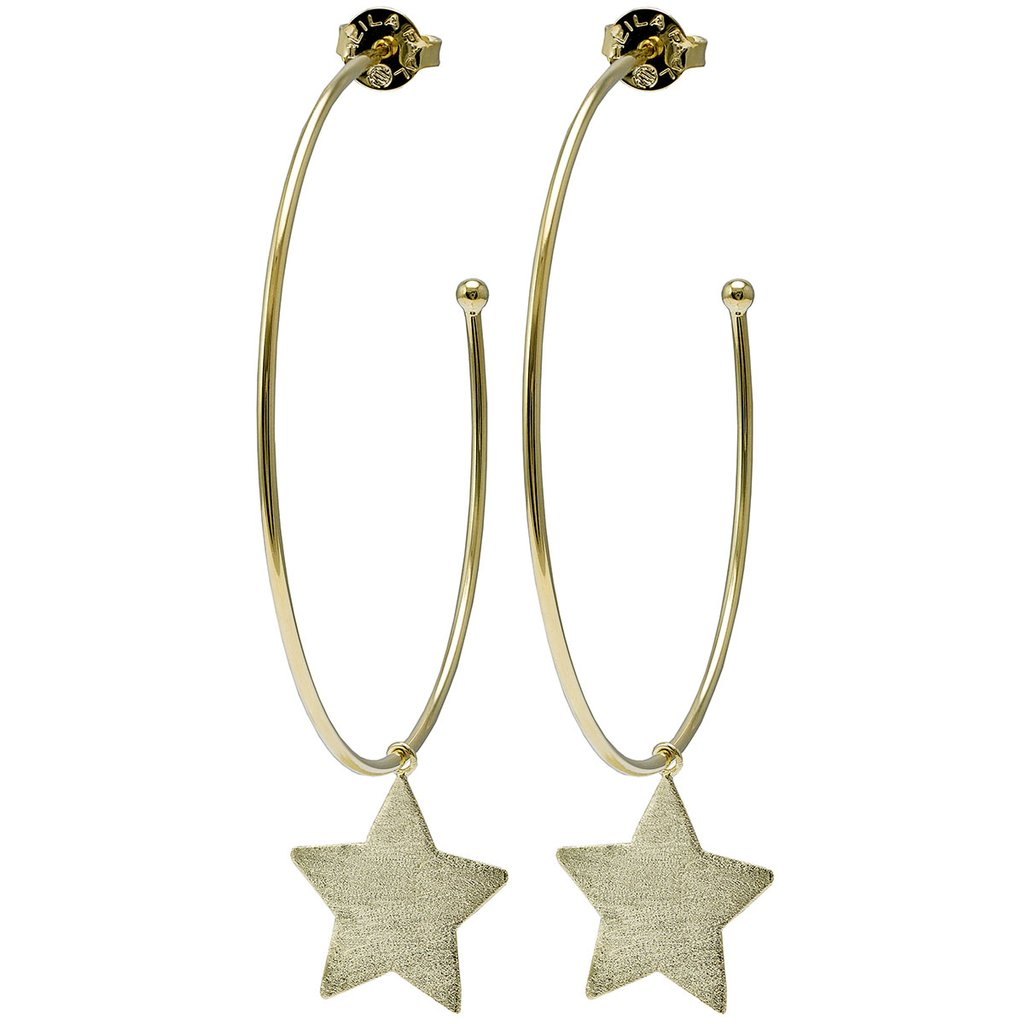 Sheila Fajl - Phoenix Star Hoops - 18K Gold Plated