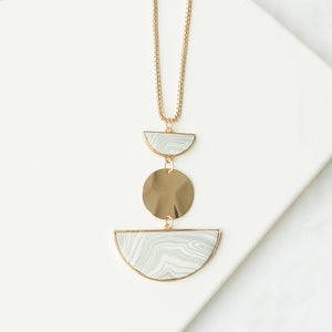 Michelle McDowell Shea Necklace - Marble