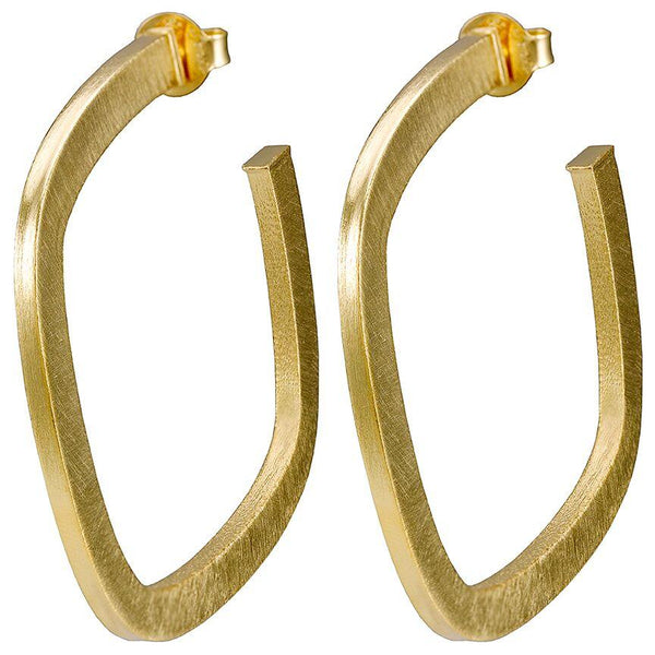 Sheila Fajl - Square Elisa Hoops 18K Gold Plated