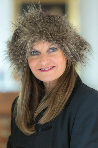 Brown Feathers Faux Fur Hat