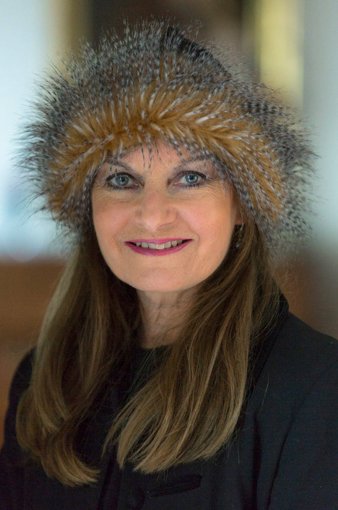 Camel Feathers Faux Fur Hat