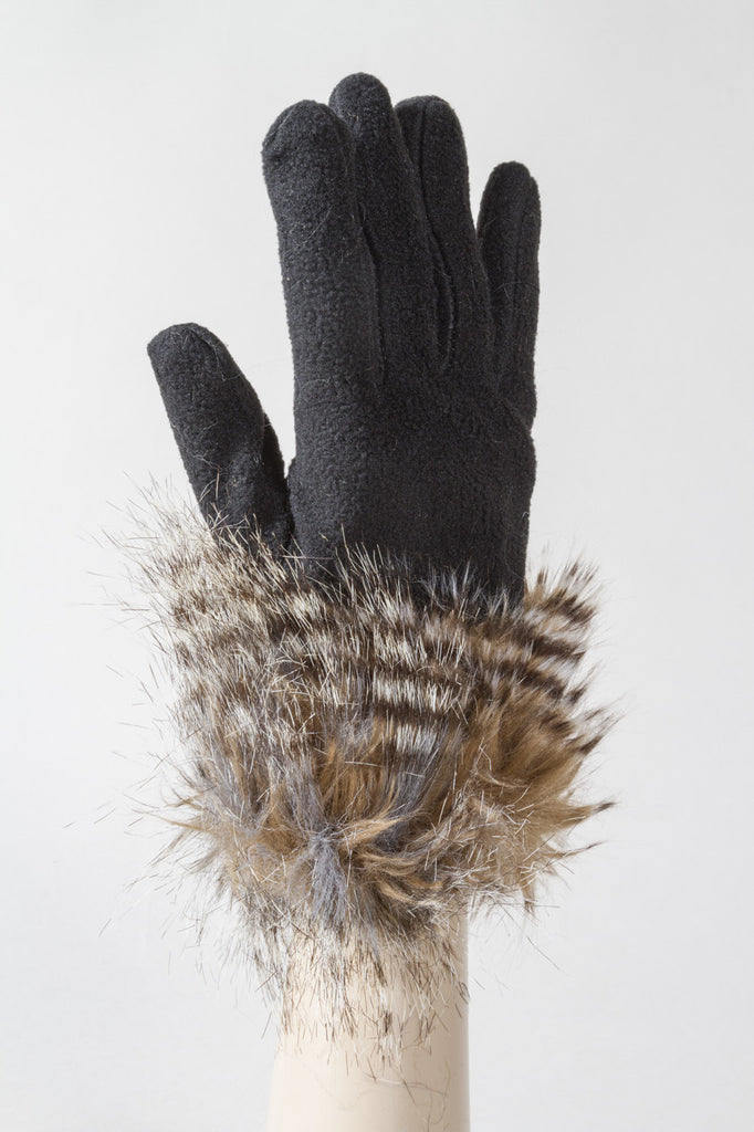 Brown Stripe Feathers Glove