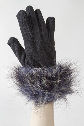 Blue Feathers Fleece Glove