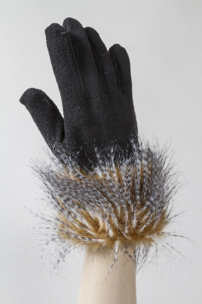 Camel Feathers Fleece Glove