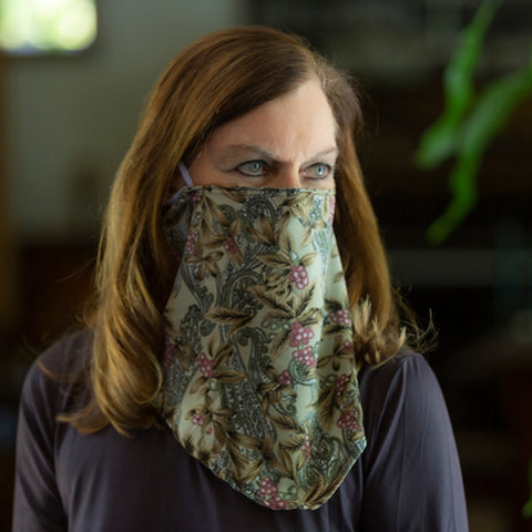 Paisley Triangle Scarf Mask