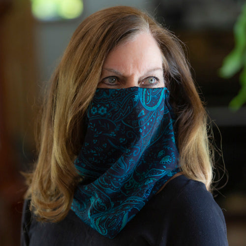 Paisley at Midnight Scarf/Mask
