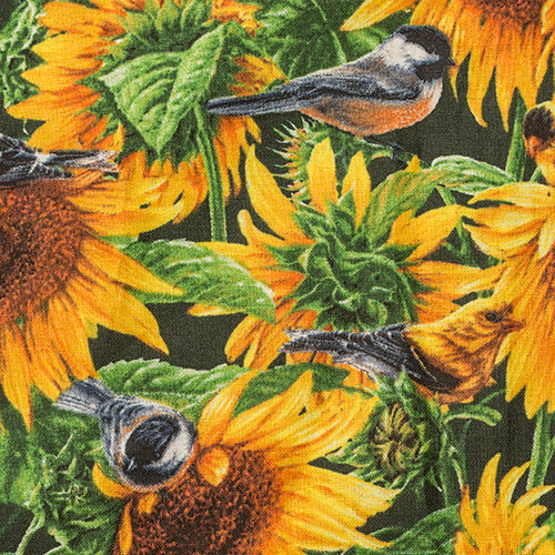 Sunflowers and Birds Apron