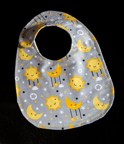 Moon and Stars Bib
