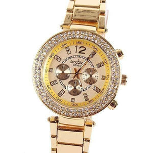 Aint Laurent Accessories LightGoldenRodYellow Rhinestone Wristwatch - Multiple Colors