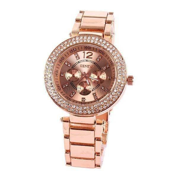 Aint Laurent Accessories MistyRose Rhinestone Wristwatch - Multiple Colors