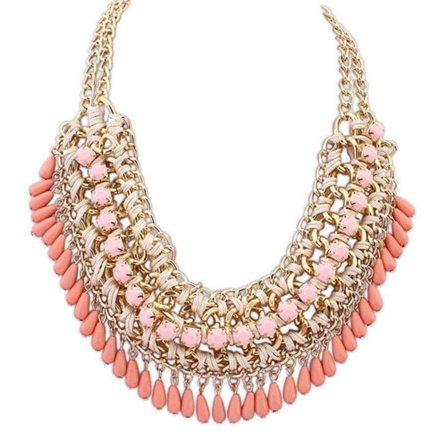 Aint Laurent Accessories MistyRose Statement Necklace - Multiple Colors