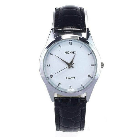 Aint Laurent Accessories Silver Leather Strap Wristwatch - Multiple Colors