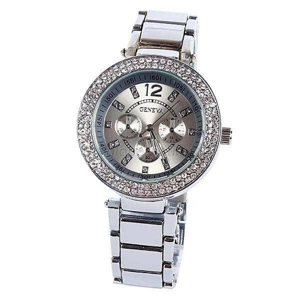 Aint Laurent Accessories Silver Rhinestone Wristwatch - Multiple Colors