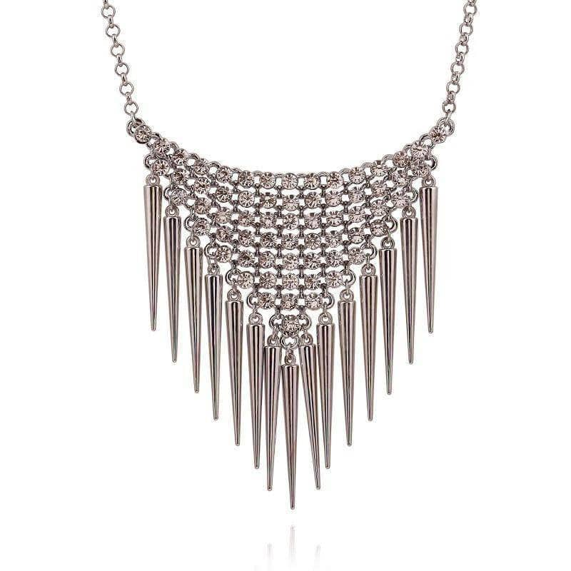 Aint Laurent Accessories Silver Waterfall Necklace - Two Colors