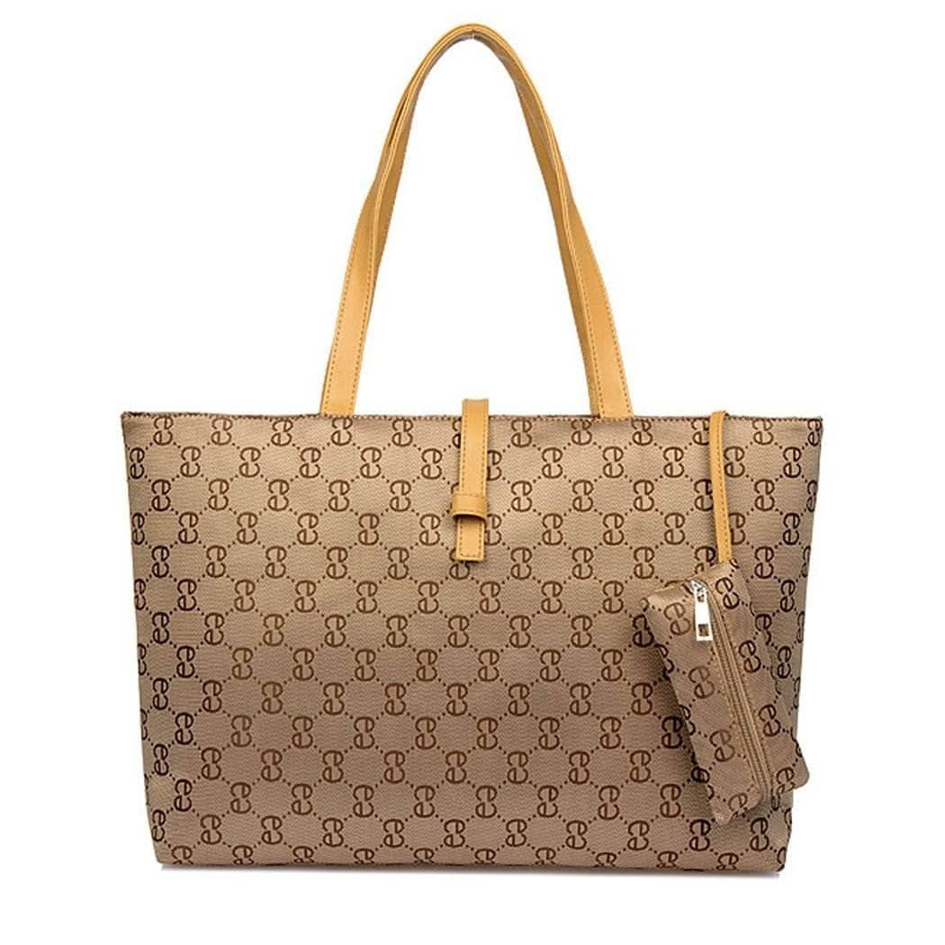 Aint Laurent Accessories Tan Logo Print Shoulder Bag - Multiple Colors