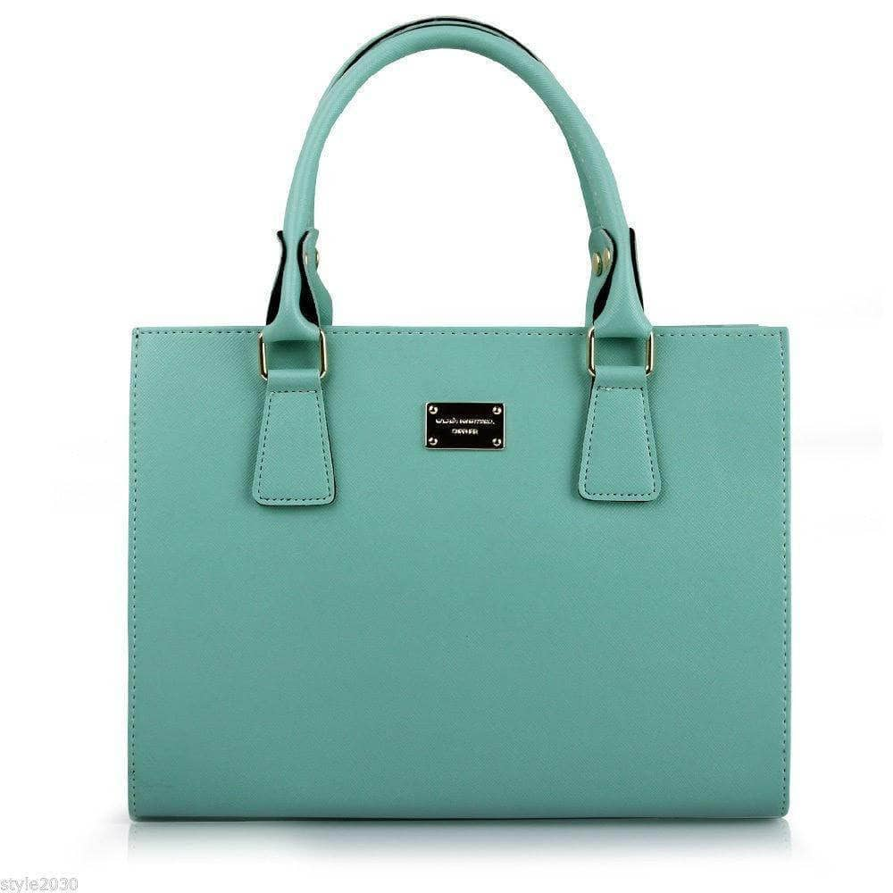 Aint Laurent Accessories Turquoise Structured Handbag - Multiple Colors