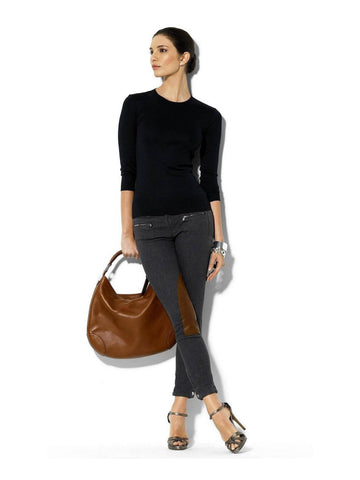 annabelle-demo1 Tops XS / Black Cashmere Longsleeve Top