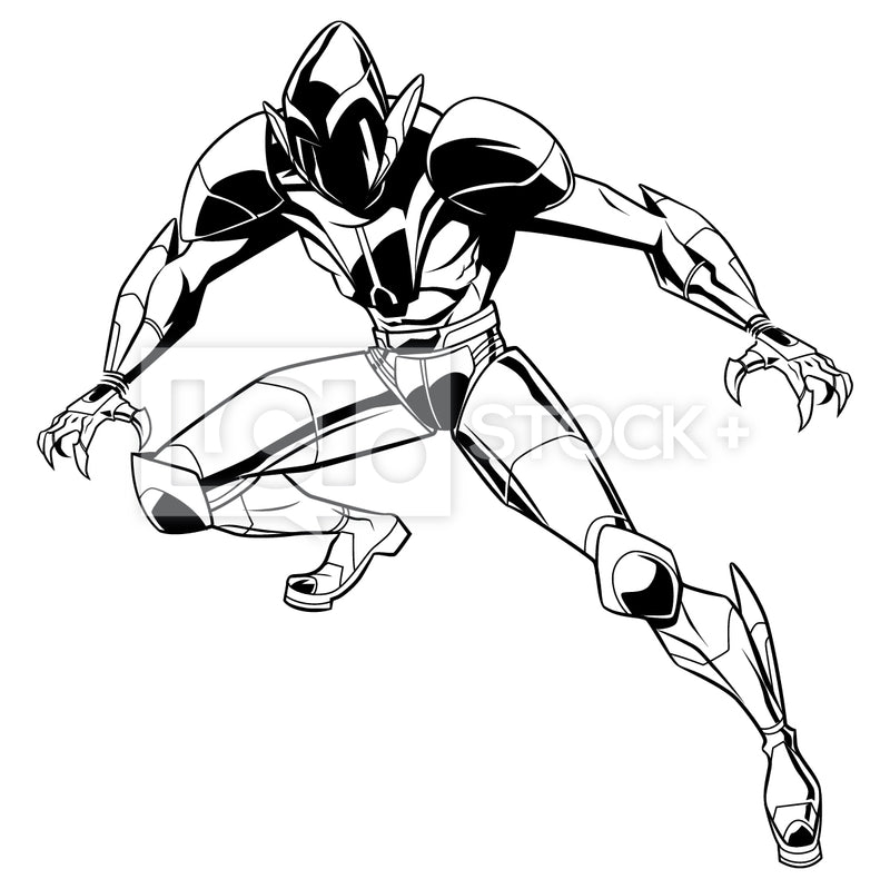 Alien Warrior Vector Clipart